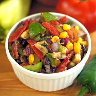 Vegetarian Mexican Salad (or Cowboy Caviar Dip)