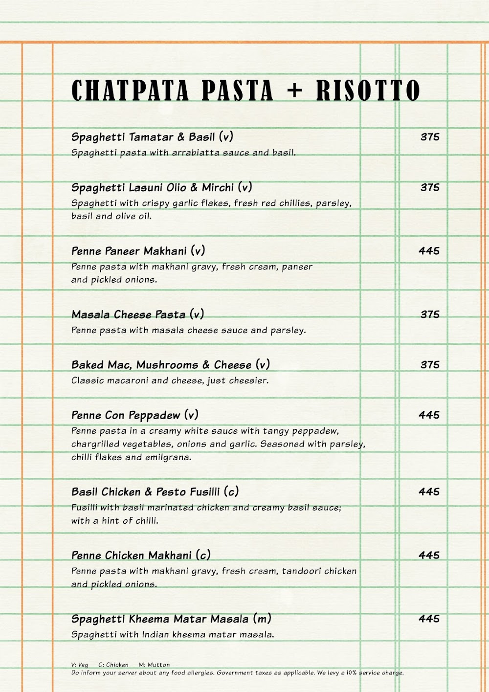 The Market Project by PizzaExpress menu 3