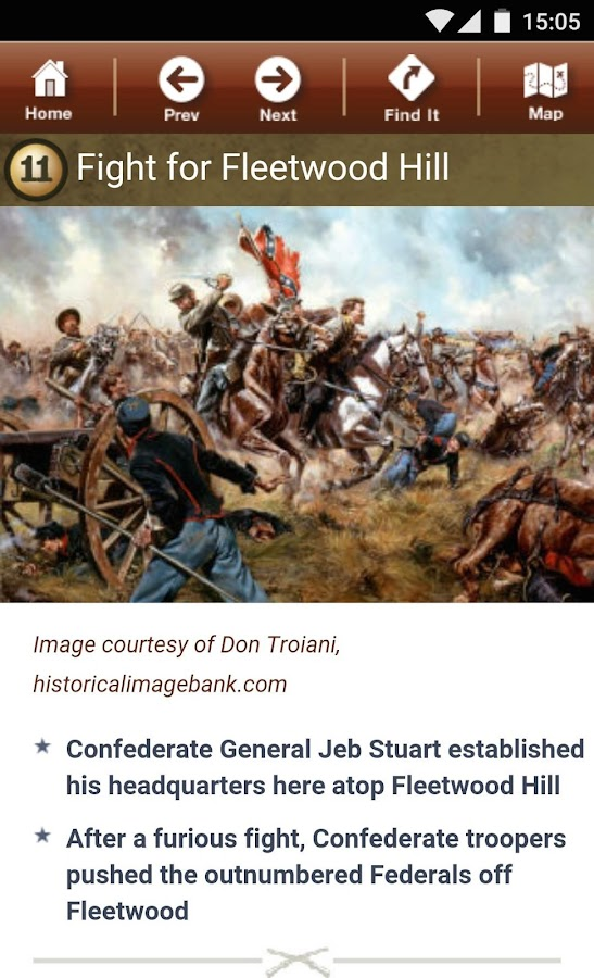 Brandy Station Battle App- screenshot