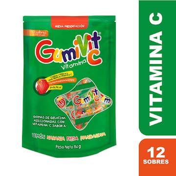 GUMIVIT C SOBRES SACHET   X12SOB. PROCAPS VITAMINA C