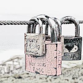 Liefdes Slotte by Elna Geringer - Digital Art Things