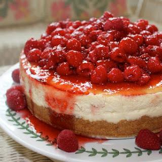 Lemon Raspberry Cheesecake.