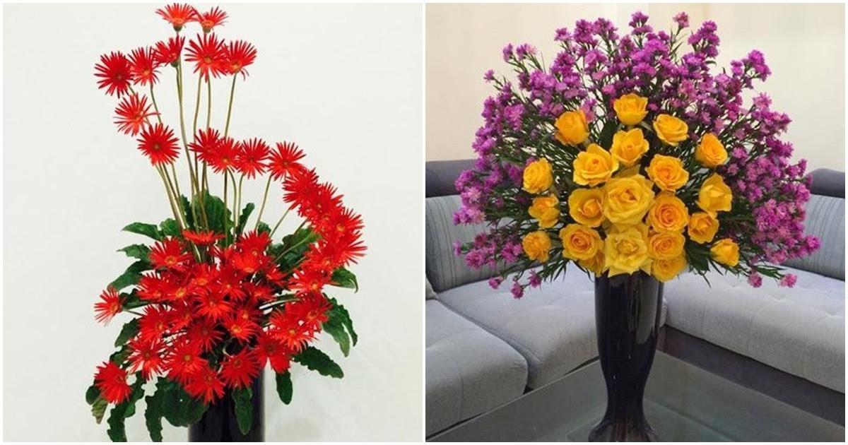 Mẹ lưu ngay các kiểu cắm hoa đơn giản nhưng đẹp mê mẩn cho phòng khách bừng sáng