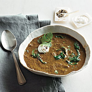 Curried Lentil Soup with Yogurt and Cilantro