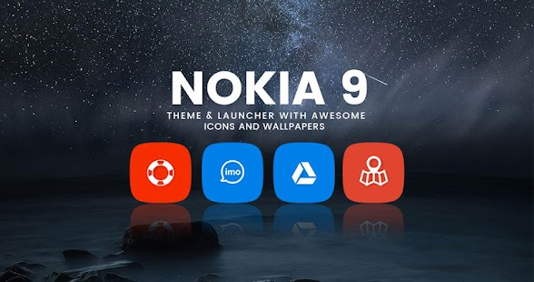 Theme for Nokia 9 Launcher | Live Wallpaper - náhled