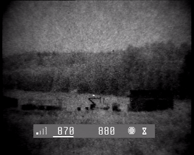 Photo: Труба ТЗК расположена в траве на опушке леса на расстоянии 870-880 м.
