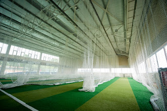 Photo: SportZone -  four permanent cricket nets in the indoor sports centre