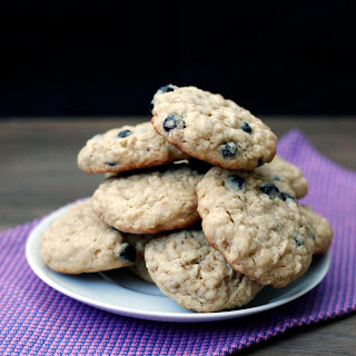 Miso Blueberry Oatmeal Cookies
