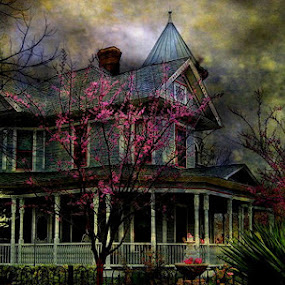 Victorian by Karen Tawater - City,  Street & Park  Vistas ( home )