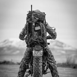 Dirt Road Freedom by Givanni Mikel - Black & White Sports ( motorcycle, utah, freedom, west, dirt bike, mud, dirt road )