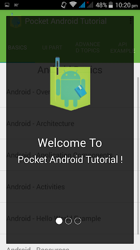 Pocket Android Tutorial Free