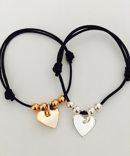 bracelet balle avec coeur
