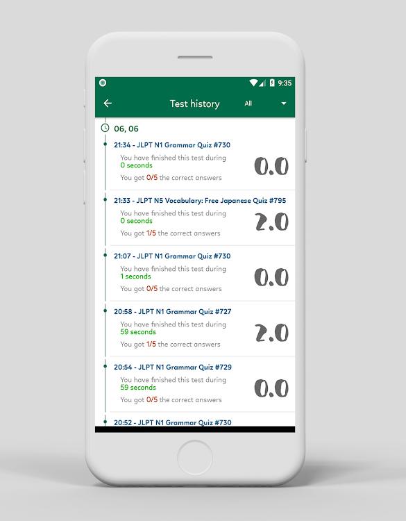 Japanese quiz: N5-N1, vocab, kanji, grammar, JLPT – (Android 앱