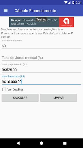 Foto do Cálculo Financiamento