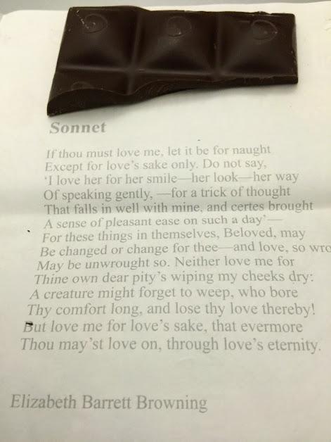 55% peppermint chocolove bar sonnet