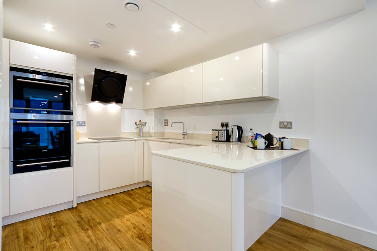 Fully equipped kitchen at Altitude by Q Apartments