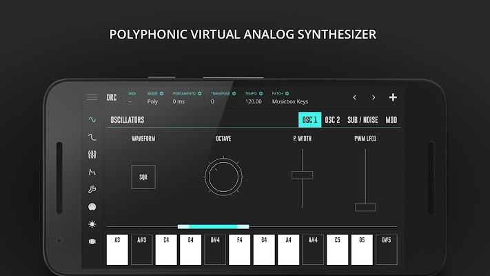 DRC - Polyphonic Synthesizer - screenshot