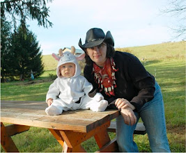 Photo: A Cowgirl and her cow-boy! Wesley and I in our front yard.