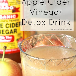 Sweet Apple Cider Detox Vinegar Drink.