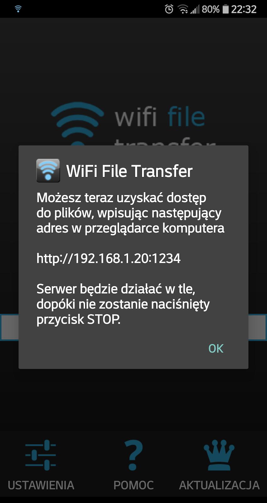 Jak połączyć telefon z komputerem przez WiFi