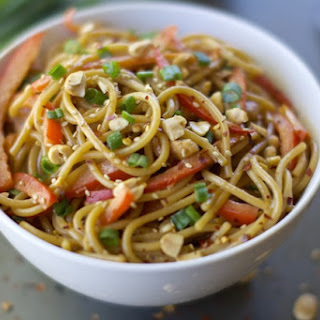 Spicy Asian Noodles with Peanut Sauce.