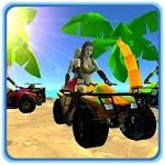 3D Quad Racing Girls Icon