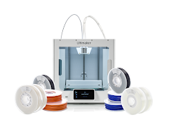 Ultimaker S3 Dual Extrusion 3D Printer Starter Bundle with 2 Year ESP