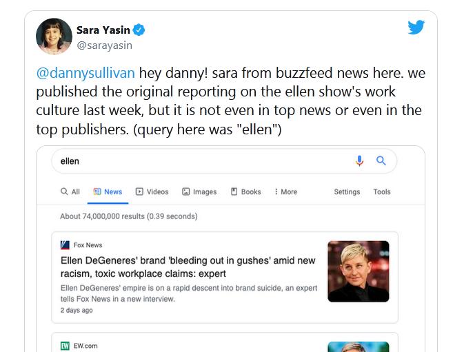 скрин твита про рандирование копии выше оригинала в Google