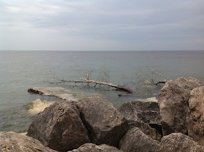 Photo: Lake Michigan from the south arm of the Muskegon Breakwater