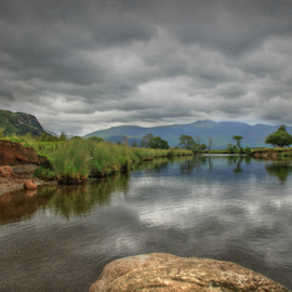 The Lake District  by Stephanie Veronique - Uncategorized All Uncategorized ( water, hills, nature, green, lakes, reflections, landscape, storm, rocks )
