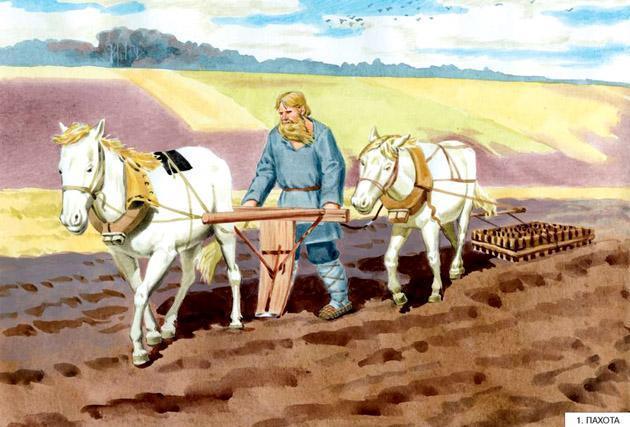 Как наши предки выращивали хлеб - Емельянова Э. - Узнай-ка!: читать с  картинками, иллюстрациями - Сказка DY9.RU