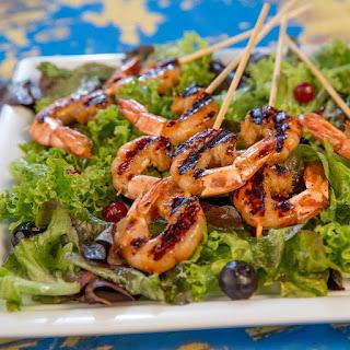 Grilled Soy Marinated Shrimp.