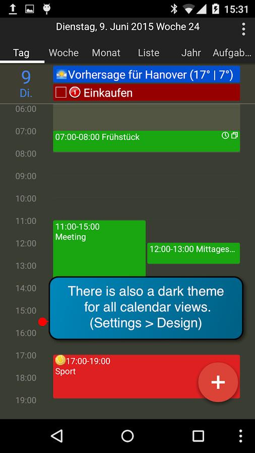 kalender app öffnen