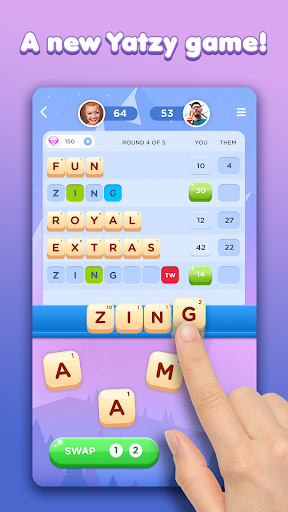 Wordzee: A Word Yatzy Game  captures d'écran 1