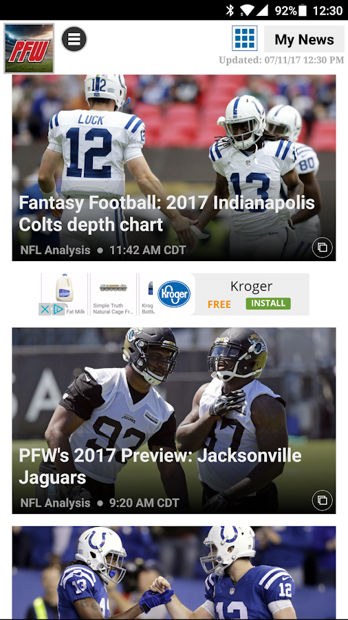 Pro Football Weekly- screenshot