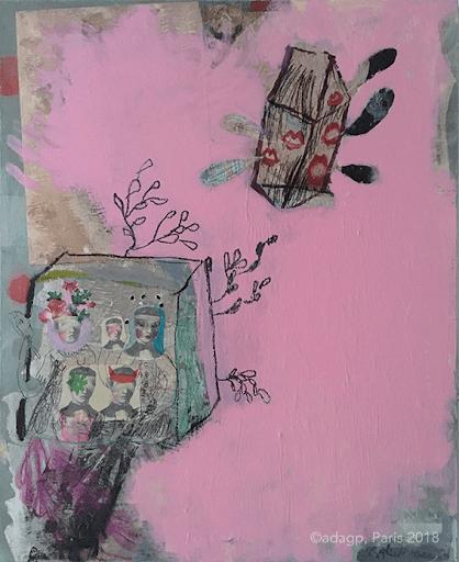 objet-celeste-sophie-lormeau-peinture-acrylique-bouche-lip-kiss-sirene-ulysse-rose-pink-collage-toile-maison-jambe-enfance-artiste-art-contemporain-figuratif-singulier-colorful-dream-reve-adagp.png