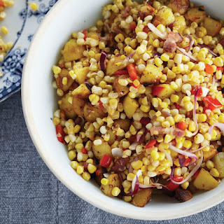 Warm Corn Chowder Salad with Bacon and Cider Vinegar