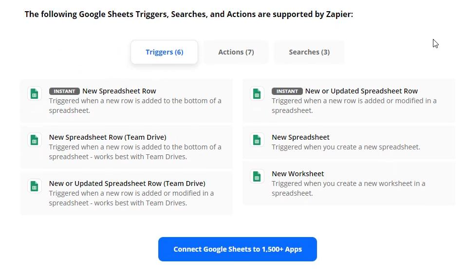 google sheets triggers