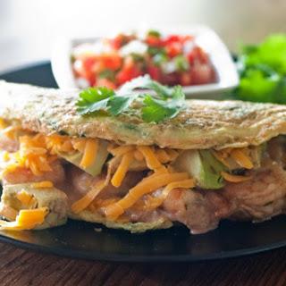 Paleo Satay Avocado Prawn Omelette Recipe