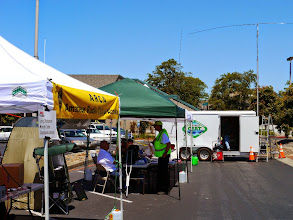 Photo: CERT and CW pavilions in front of one of the MDUs.