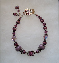 Photo: amethyst and lampwork bracelet