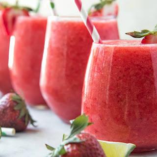 Strawberry & Lime Moscato Wine Slushie Recipe