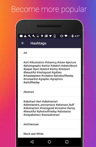 Hashtags for boost real followers and likes APK (1 0 3) on
