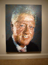 Photo: Bill Clinton Painting.