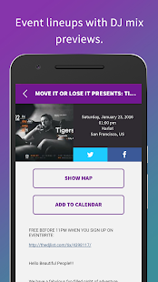 The DJ List - Events and Music- screenshot thumbnail