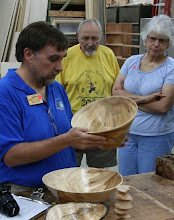 Photo: Time gets serious and turns out some big maple bowls.