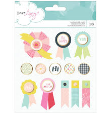 American Crafts Dear Lizzy Happy Place Brads 13/Pkg UTGÅENDE
