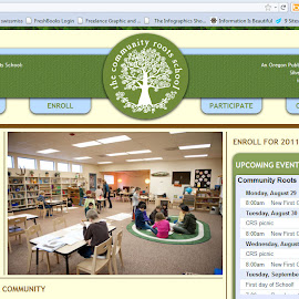 Community Roots School Website by April Greer - Web & Apps Pages
