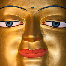 Photo: Sacred Sunday  This is a close-up of the Shakyamuni Buddha statue at Shey Monastary in Ladakh. From the top to the bottom, the statue is 12 meters high and it's the second largest statue of Buddha in Ladakh. Due the the size of the statue, it spans three floors of the monastery.  The Shey Monastery was build in 1655 and it is located approximately 15 km south of Leh, the modern day capital of Ladakh. Shey functioned as the summer capital of Ladakh until 1842 and the monastery and the old palace are practically a single structure. You can find more information about Shey on Wikipedia: http://en.wikipedia.org/wiki/Shey_Monastery  #SacredSunday (cureated by +Charles Lupica)