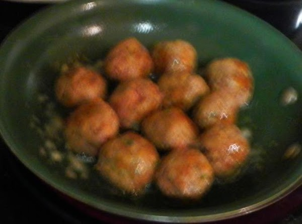 Mix meat ingredients (the first five ingredients)together and mix well.Make the balls to the...